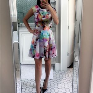 Ted Baker floral dress. Size 2